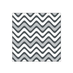 Shades Of Grey And White Wavy Lines Background Wallpaper Satin Bandana Scarf