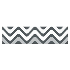 Shades Of Grey And White Wavy Lines Background Wallpaper Satin Scarf (oblong)