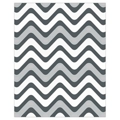 Shades Of Grey And White Wavy Lines Background Wallpaper Drawstring Bag (small)