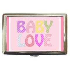 Pink Baby Love Text In Colorful Polka Dots Cigarette Money Cases