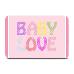 Pink Baby Love Text In Colorful Polka Dots Plate Mats