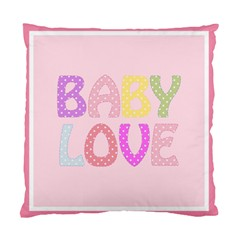 Pink Baby Love Text In Colorful Polka Dots Standard Cushion Case (One Side)