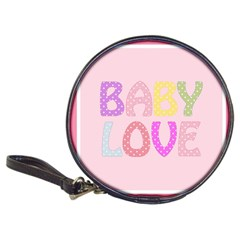 Pink Baby Love Text In Colorful Polka Dots Classic 20 Cd Wallets