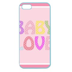 Pink Baby Love Text In Colorful Polka Dots Apple Seamless iPhone 5 Case (Color)