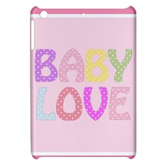 Pink Baby Love Text In Colorful Polka Dots Apple iPad Mini Hardshell Case