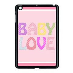 Pink Baby Love Text In Colorful Polka Dots Apple Ipad Mini Case (black)