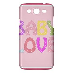 Pink Baby Love Text In Colorful Polka Dots Samsung Galaxy Mega 5.8 I9152 Hardshell Case