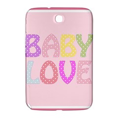 Pink Baby Love Text In Colorful Polka Dots Samsung Galaxy Note 8.0 N5100 Hardshell Case