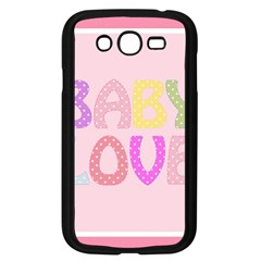 Pink Baby Love Text In Colorful Polka Dots Samsung Galaxy Grand DUOS I9082 Case (Black)