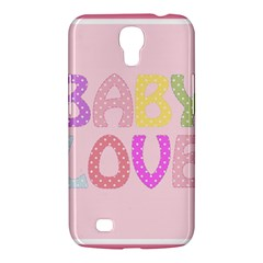Pink Baby Love Text In Colorful Polka Dots Samsung Galaxy Mega 6 3  I9200 Hardshell Case