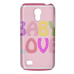 Pink Baby Love Text In Colorful Polka Dots Galaxy S4 Mini