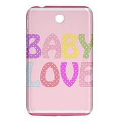 Pink Baby Love Text In Colorful Polka Dots Samsung Galaxy Tab 3 (7 ) P3200 Hardshell Case