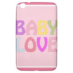 Pink Baby Love Text In Colorful Polka Dots Samsung Galaxy Tab 3 (8 ) T3100 Hardshell Case
