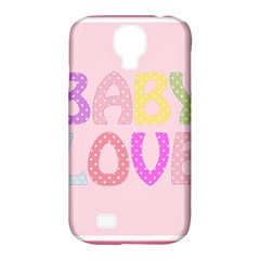 Pink Baby Love Text In Colorful Polka Dots Samsung Galaxy S4 Classic Hardshell Case (pc+silicone)