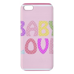 Pink Baby Love Text In Colorful Polka Dots iPhone 5S/ SE Premium Hardshell Case