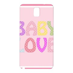 Pink Baby Love Text In Colorful Polka Dots Samsung Galaxy Note 3 N9005 Hardshell Back Case
