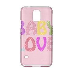 Pink Baby Love Text In Colorful Polka Dots Samsung Galaxy S5 Hardshell Case