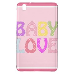 Pink Baby Love Text In Colorful Polka Dots Samsung Galaxy Tab Pro 8.4 Hardshell Case