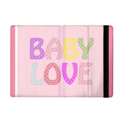 Pink Baby Love Text In Colorful Polka Dots iPad Mini 2 Flip Cases