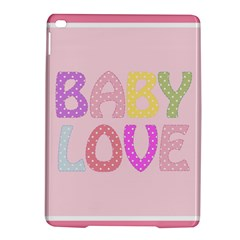 Pink Baby Love Text In Colorful Polka Dots iPad Air 2 Hardshell Cases