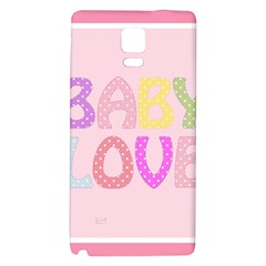 Pink Baby Love Text In Colorful Polka Dots Galaxy Note 4 Back Case