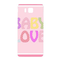 Pink Baby Love Text In Colorful Polka Dots Samsung Galaxy Alpha Hardshell Back Case