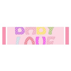 Pink Baby Love Text In Colorful Polka Dots Satin Scarf (oblong)