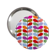 Colorful Bright Leaf Pattern Background 2 25  Handbag Mirrors