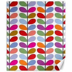 Colorful Bright Leaf Pattern Background Canvas 8  X 10