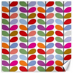 Colorful Bright Leaf Pattern Background Canvas 12  X 12