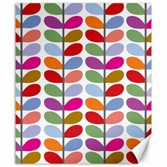 Colorful Bright Leaf Pattern Background Canvas 20  X 24