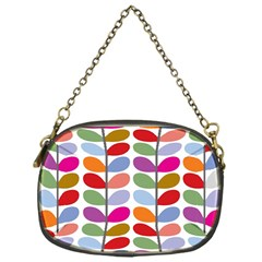 Colorful Bright Leaf Pattern Background Chain Purses (one Side)