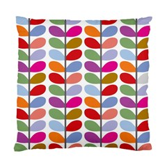 Colorful Bright Leaf Pattern Background Standard Cushion Case (one Side)