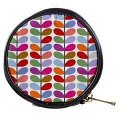 Colorful Bright Leaf Pattern Background Mini Makeup Bags