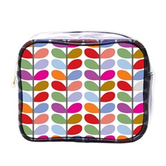 Colorful Bright Leaf Pattern Background Mini Toiletries Bags
