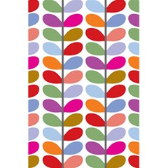 Colorful Bright Leaf Pattern Background 5.5  x 8.5  Notebooks