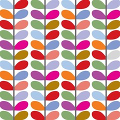 Colorful Bright Leaf Pattern Background Magic Photo Cubes
