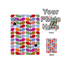 Colorful Bright Leaf Pattern Background Playing Cards 54 (mini)