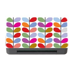 Colorful Bright Leaf Pattern Background Memory Card Reader With Cf