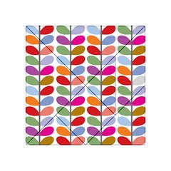 Colorful Bright Leaf Pattern Background Acrylic Tangram Puzzle (4  X 4 )