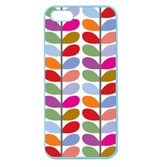Colorful Bright Leaf Pattern Background Apple Seamless iPhone 5 Case (Color)
