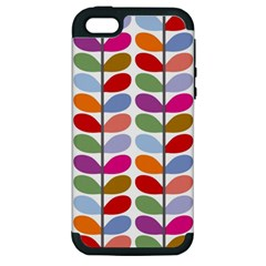 Colorful Bright Leaf Pattern Background Apple iPhone 5 Hardshell Case (PC+Silicone)