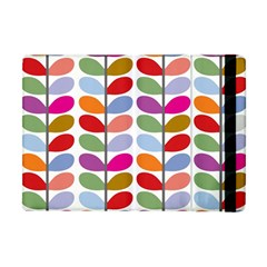 Colorful Bright Leaf Pattern Background Apple Ipad Mini Flip Case