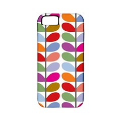 Colorful Bright Leaf Pattern Background Apple iPhone 5 Classic Hardshell Case (PC+Silicone)
