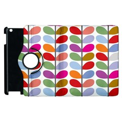 Colorful Bright Leaf Pattern Background Apple iPad 3/4 Flip 360 Case