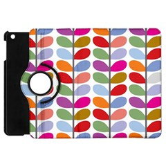 Colorful Bright Leaf Pattern Background Apple Ipad Mini Flip 360 Case