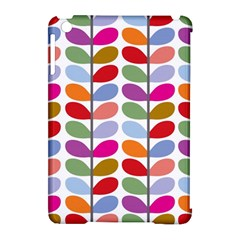 Colorful Bright Leaf Pattern Background Apple iPad Mini Hardshell Case (Compatible with Smart Cover)