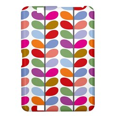 Colorful Bright Leaf Pattern Background Kindle Fire Hd 8 9