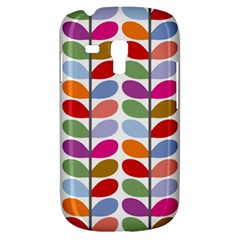 Colorful Bright Leaf Pattern Background Galaxy S3 Mini
