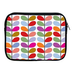 Colorful Bright Leaf Pattern Background Apple Ipad 2/3/4 Zipper Cases